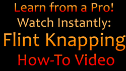 how to traditional flint knapping video
